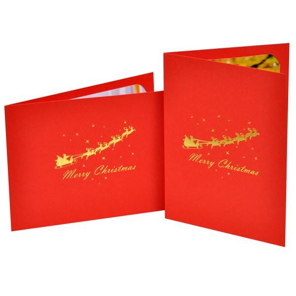 Reindeer & Sledge foiled photo folder