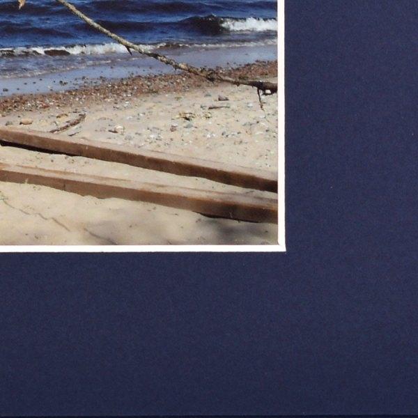 Maple Blue Folder with bevelled edges closeup
