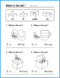 Where Is The Ant Prepositions Worksheet