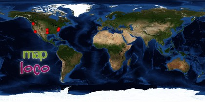 Locations of Site Visitors since 25 August 2012