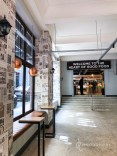 Old newspaper factory turned into a food market