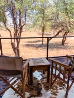 Beck's Lodge private deck overlooking wildlife