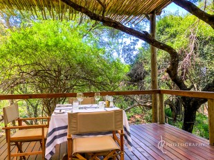 Peaceful meals here at Rhino Sands
