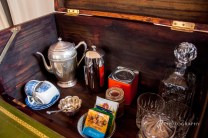 Teas + coffee - there are no kettles since they use too much energy! A flask can be arranged if desired!
