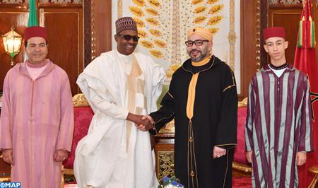 جلالة الملك يجري مباحثات على انفراد مع رئيس جمهورية نيجيريا الفدرالية