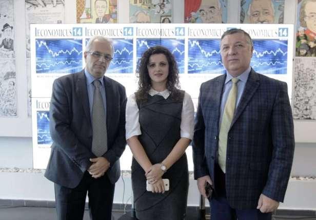 Ekipi drejtues i revistës Economicus; Adrian Civici, Engjëll Pere dhe Besarta Vladi