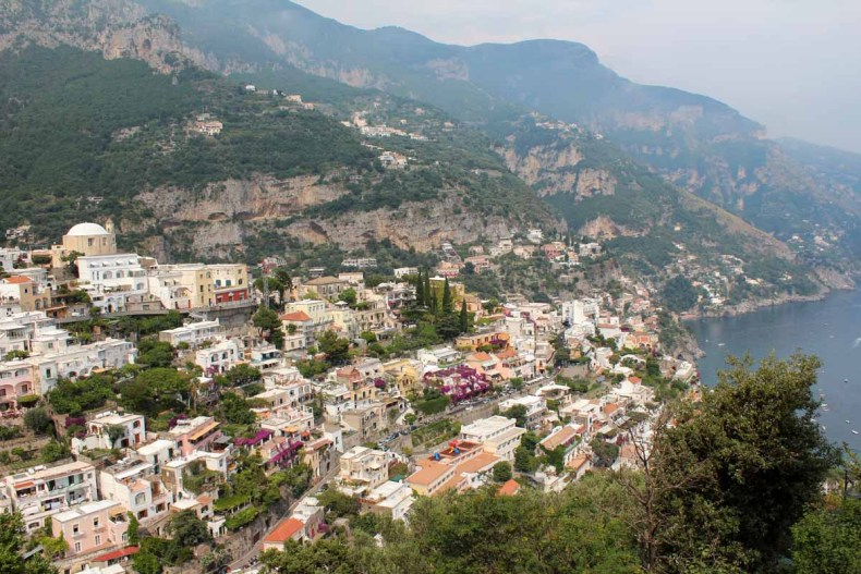 Positano, Amalfiksut roadtrip route - Map of Joy