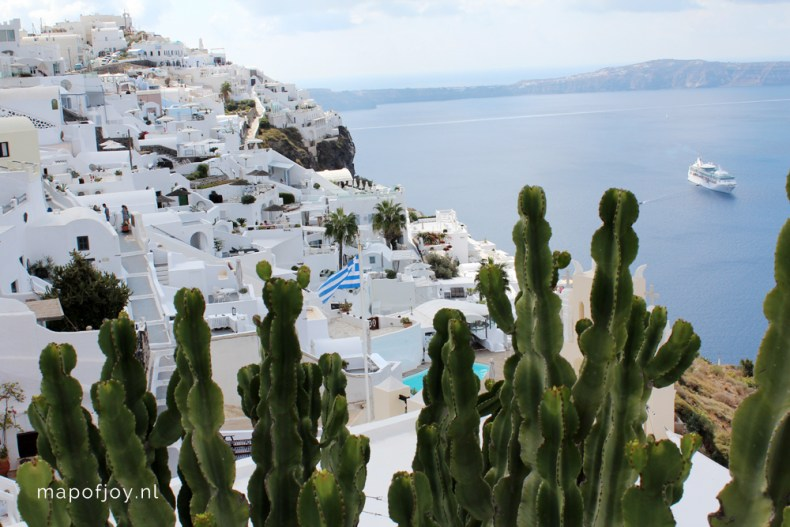 Santorini Greece, Fira - Map of Joy