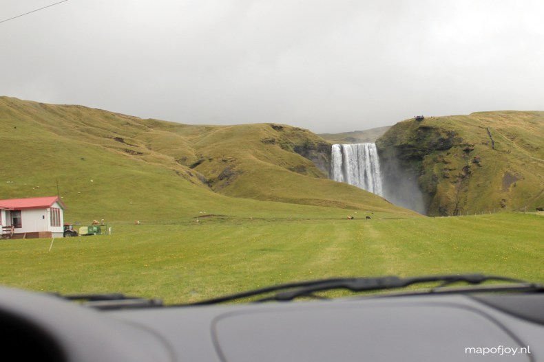 Iceland, Skogafoss waterfall - Map of Joy