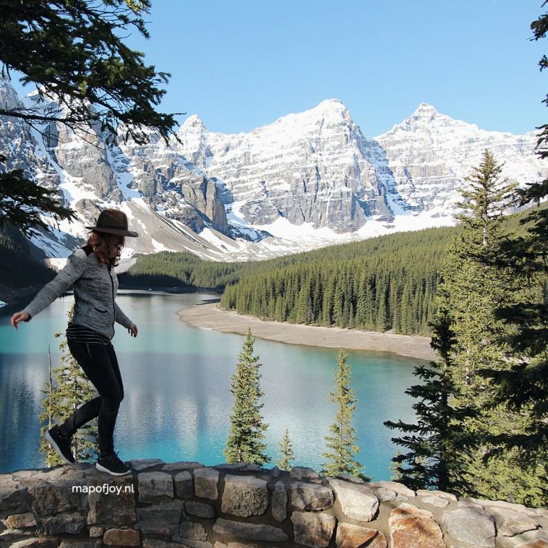 Lake Moraine, Alberta, Canada - Map of Joy