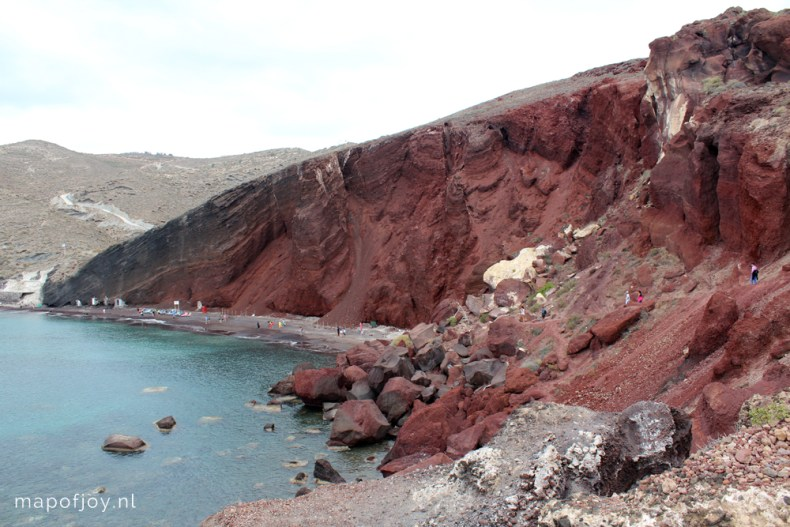 Akrotiri, Red Beach, Santorini, Greece - Map of Joy