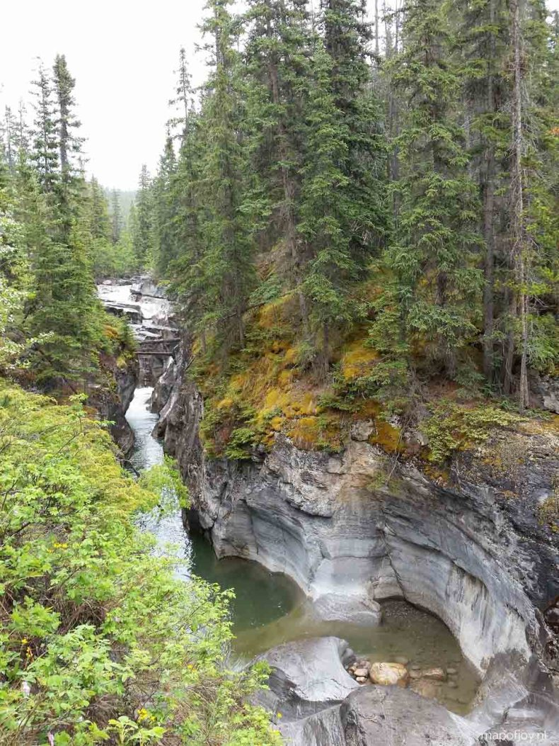Maligne Canyon, Alberta, Canada - Map of Joy
