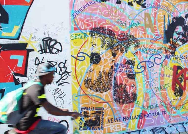 East Side Gallery, Berlin - Map of Joy