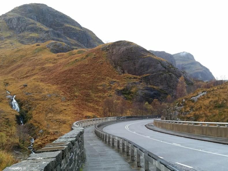 mooiste route door de Hooglanden van Schotland, Glen Coe, Schotland - Map of Joy
