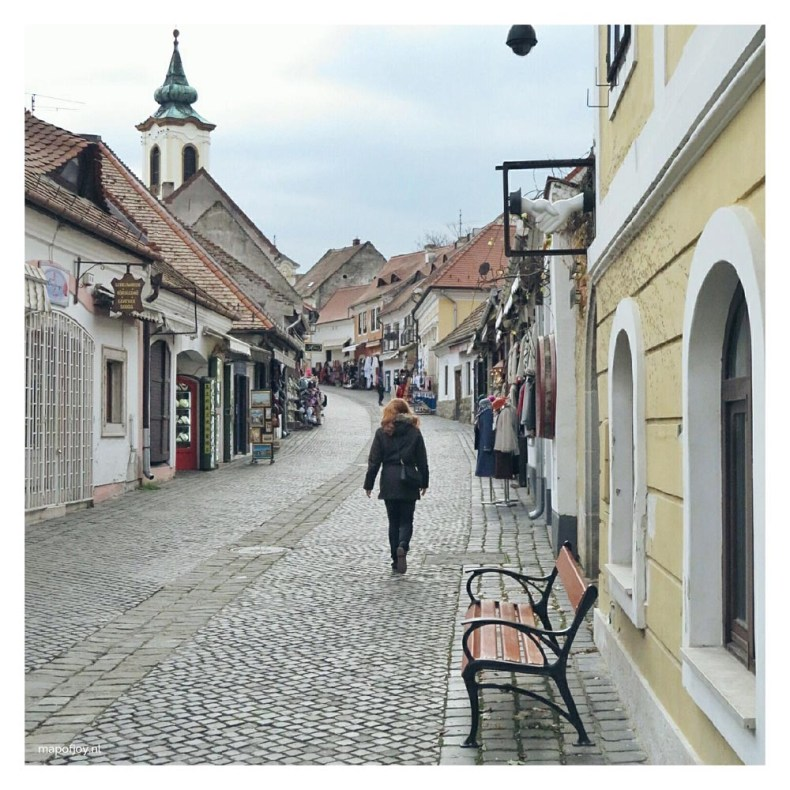 Street in Szentendre, near Budapest - Map of Joy