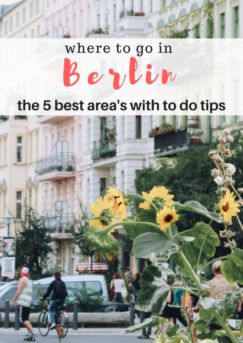 Where to go in Berlin, the 5 best area's with to do tips - Map of Joy