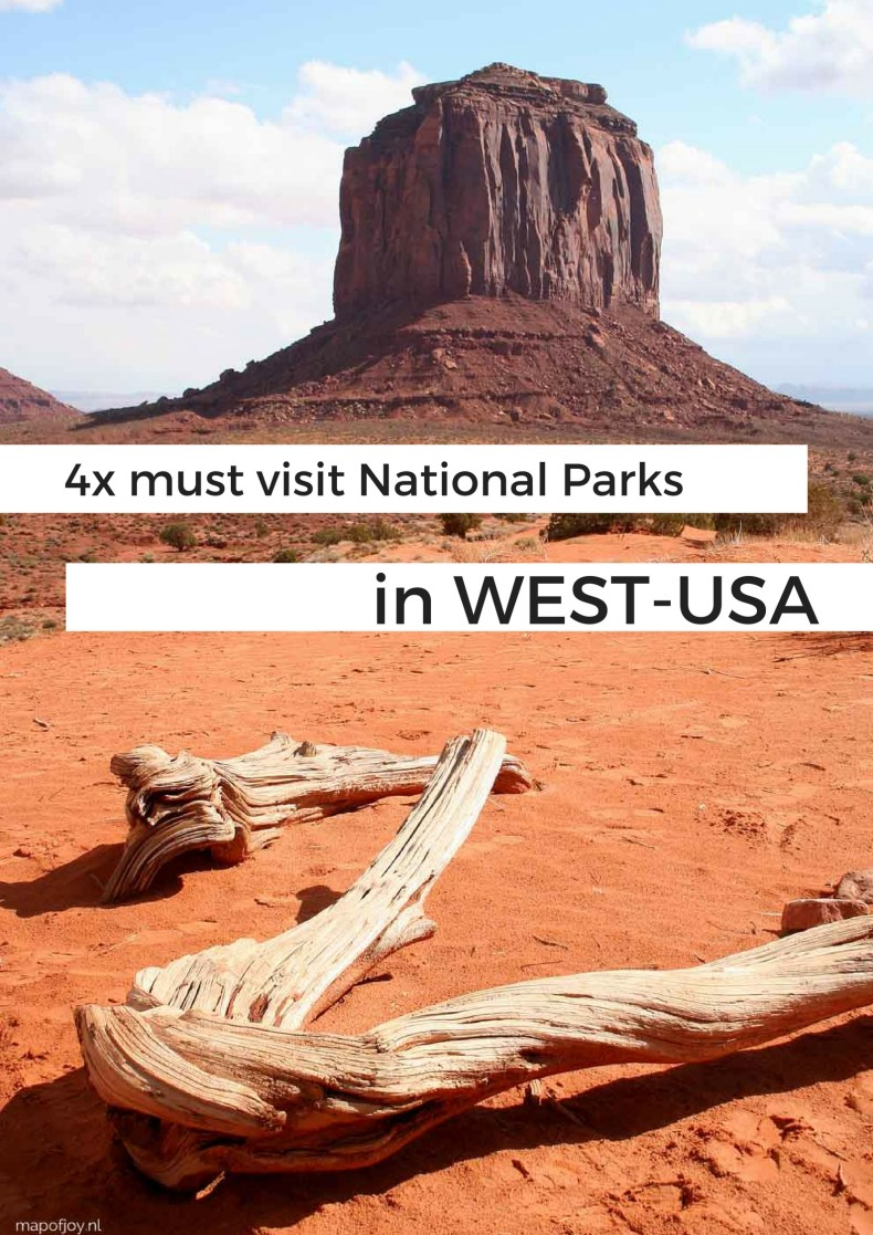 Must see nature in West-USA - Map of Joy
