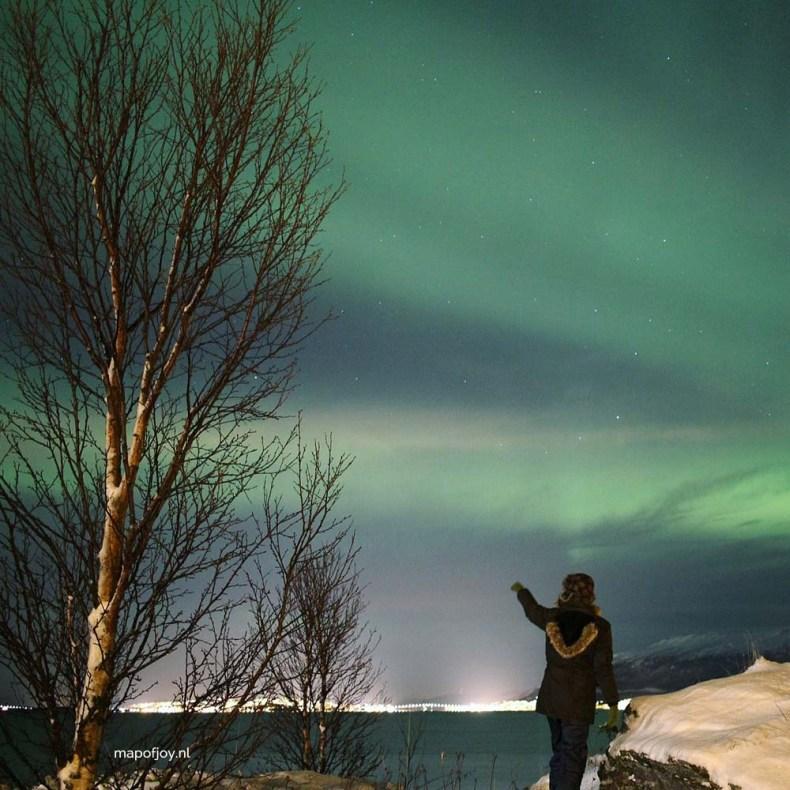 Noorderlicht, Vikran, Tromso, Noorwegen - Map of Joy