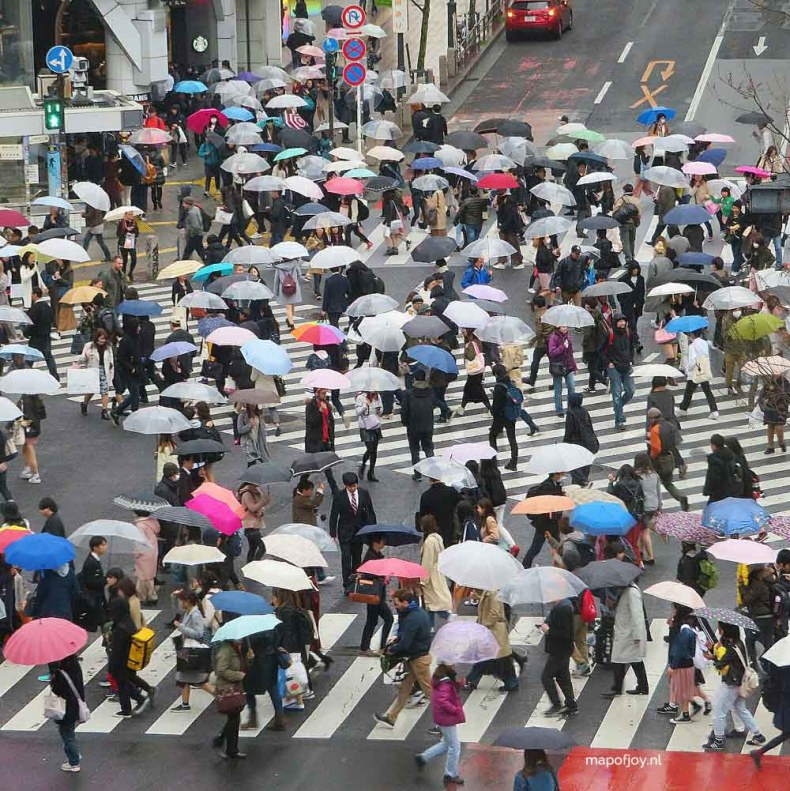 Shibuya Crossing, Tokyo, Japan - Map of Joy