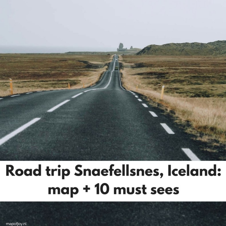 The ultimate road trip through Snaefellsnes, Iceland, with a map and 10 must sees - Map of Joy