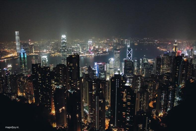 The Peak at night, skyline Hong Kong - Map of Joy