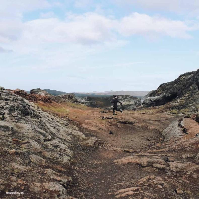 Hiking through Leirhnjúkur, Iceland - Map of Joy