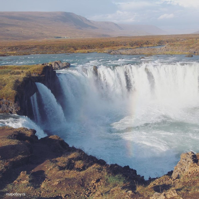 Godafoss waterfall, Iceland - Map of Joy