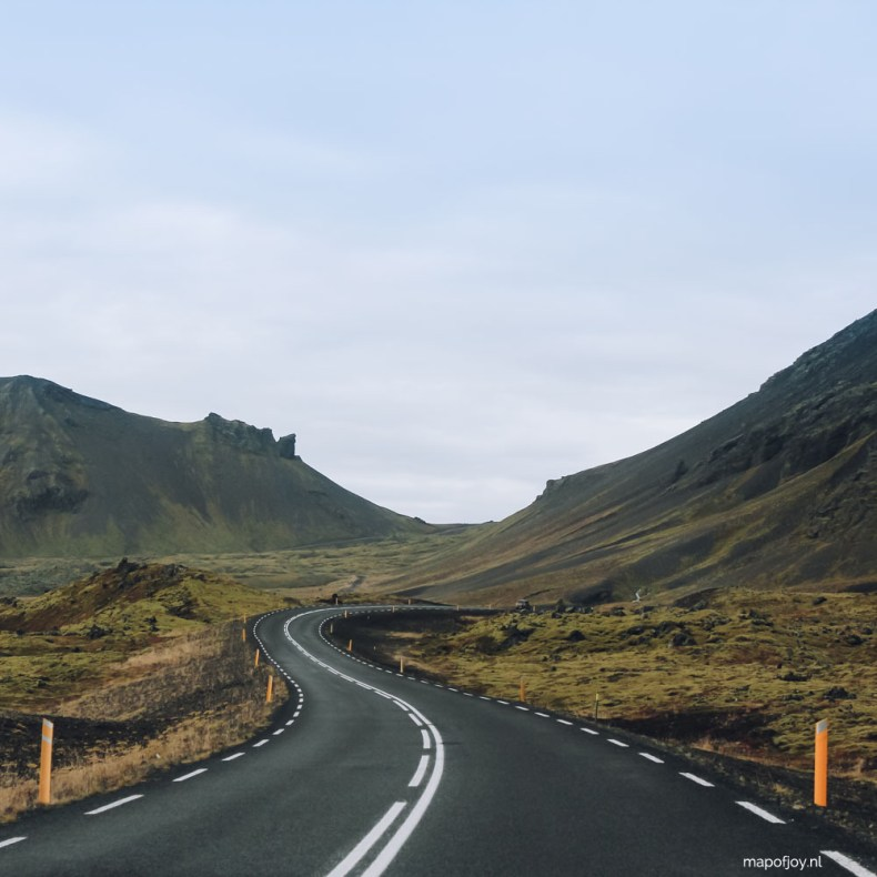 Road Snaefellsnes, Iceland - Map of Joy