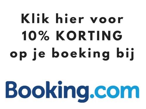 10% korting bij Booking.com