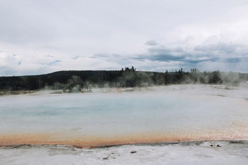 Upper Geyser Basin Trail Yellowstone NP - Map of Joy