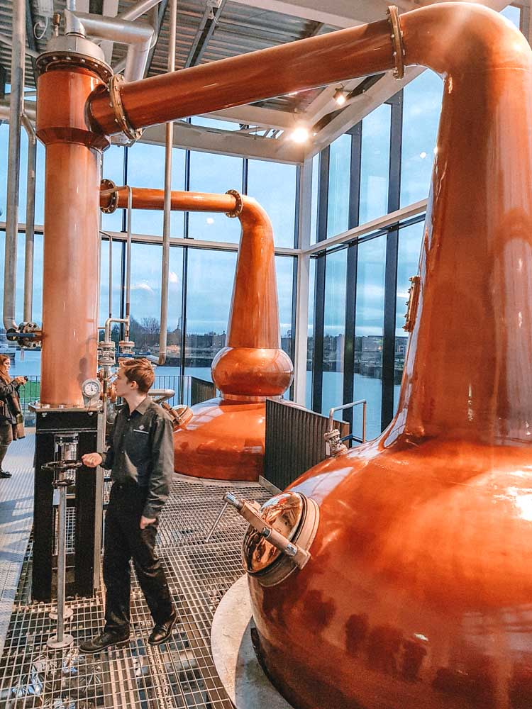 Whisky proeven in The Clydeside Distillery