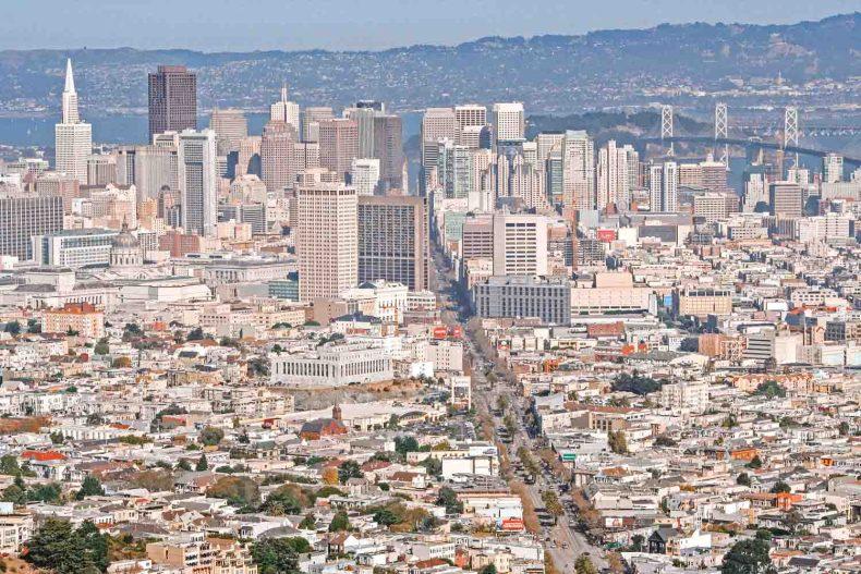 Twin Peaks, zien in San Francisco - Map of Joy