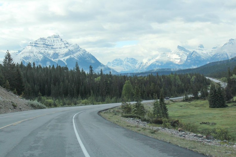 Icefields Parkway roadtrip route - Map of Joy