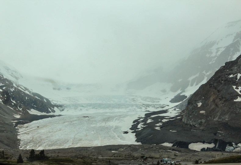 Athabasca Glacier, Icefields Parkway roadtrip route - Map of Joy