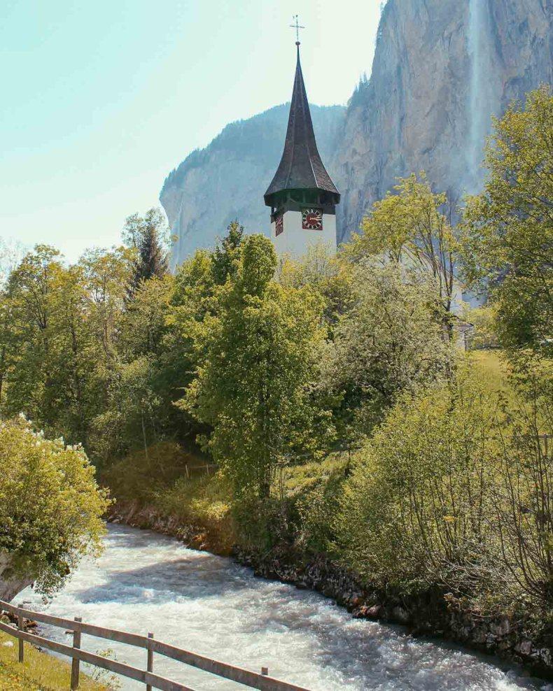 Lauterbrunnen, Zwitserland - Map of Joy