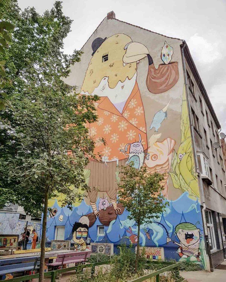 Street art Linden, Hannover - Map of Joy