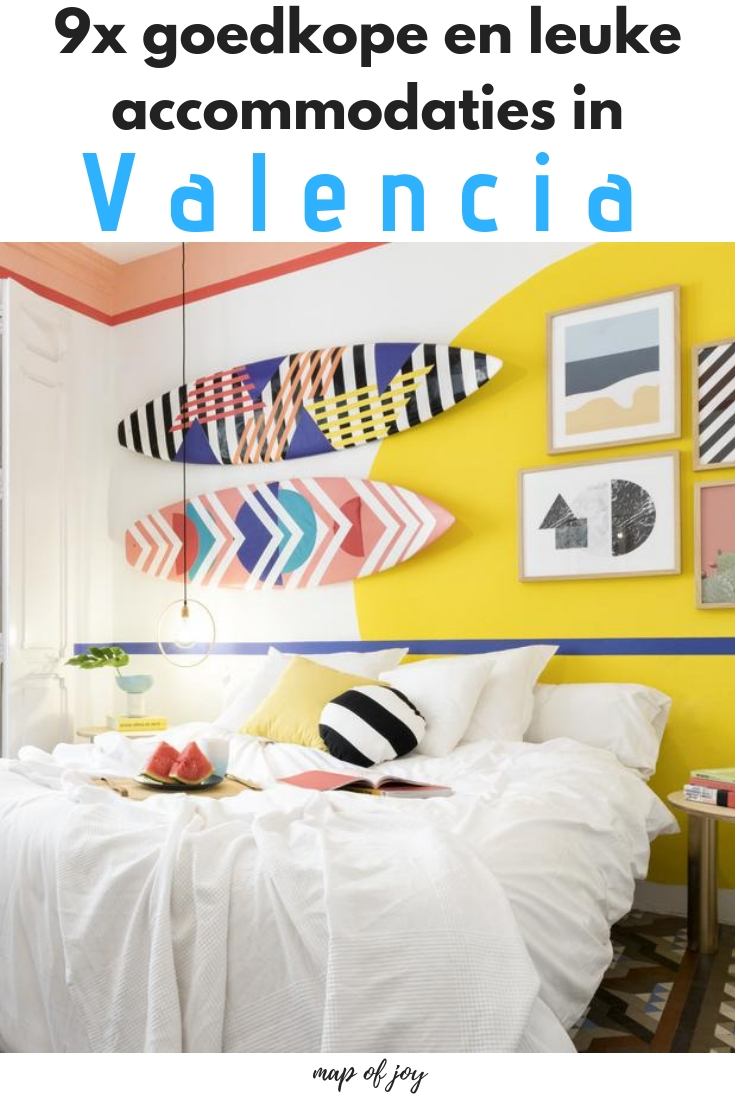 9x leuke en goedkope accommodaties in Valencia - Map of Joy