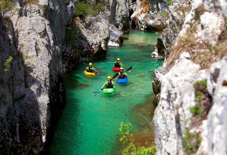 6x wandelen, fietsen of kajakken in de mooiste grotten van Slovenië, Krizna Jama grotten, kajakken - Map of Joy