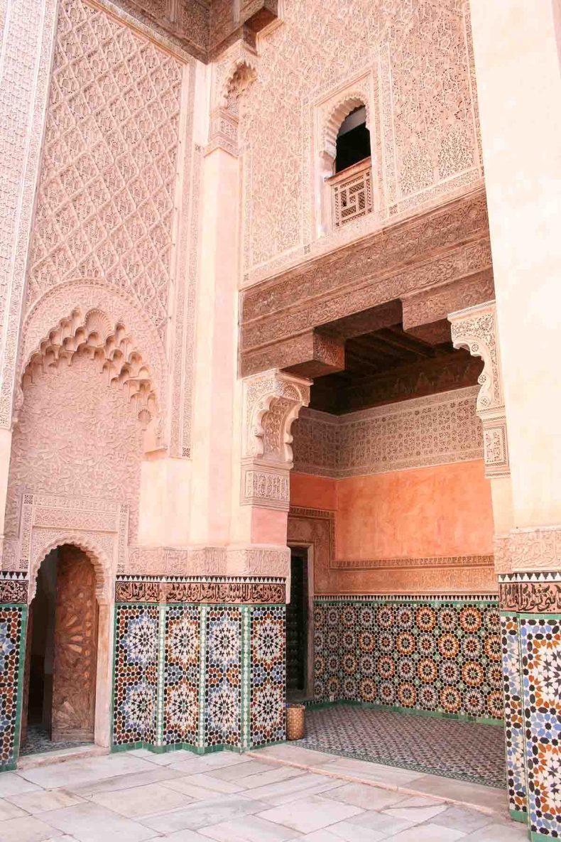 Ben Youssef Madrassa, doen in Marrakech - Map of Joy