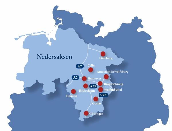 9x de mooiste kerstmarkten in Nedersaksen plattegrond - Map of Joy