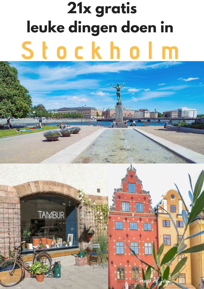 21x gratis leuke dingen doen in Stockholm - Map of Joy