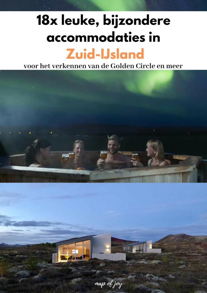 18x leuke, bijzondere accommodaties in Zuid-IJsland - Map of Joy