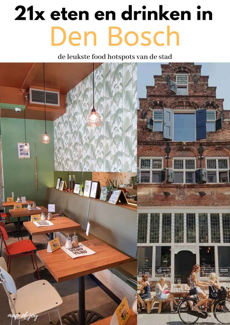 21x eten en drinken in Den Bosch - Map of Joy