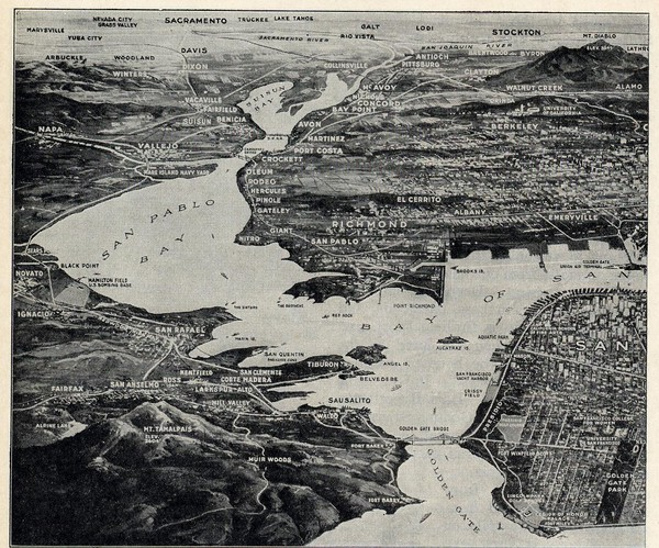 1936 San Francisco Bay Area Map Part 1   San Francisco Bay Area CA     Fullsize 1936 San Francisco Bay Area Map Part 1