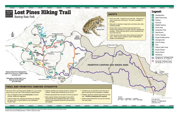 Image result for bastrop state park trail map