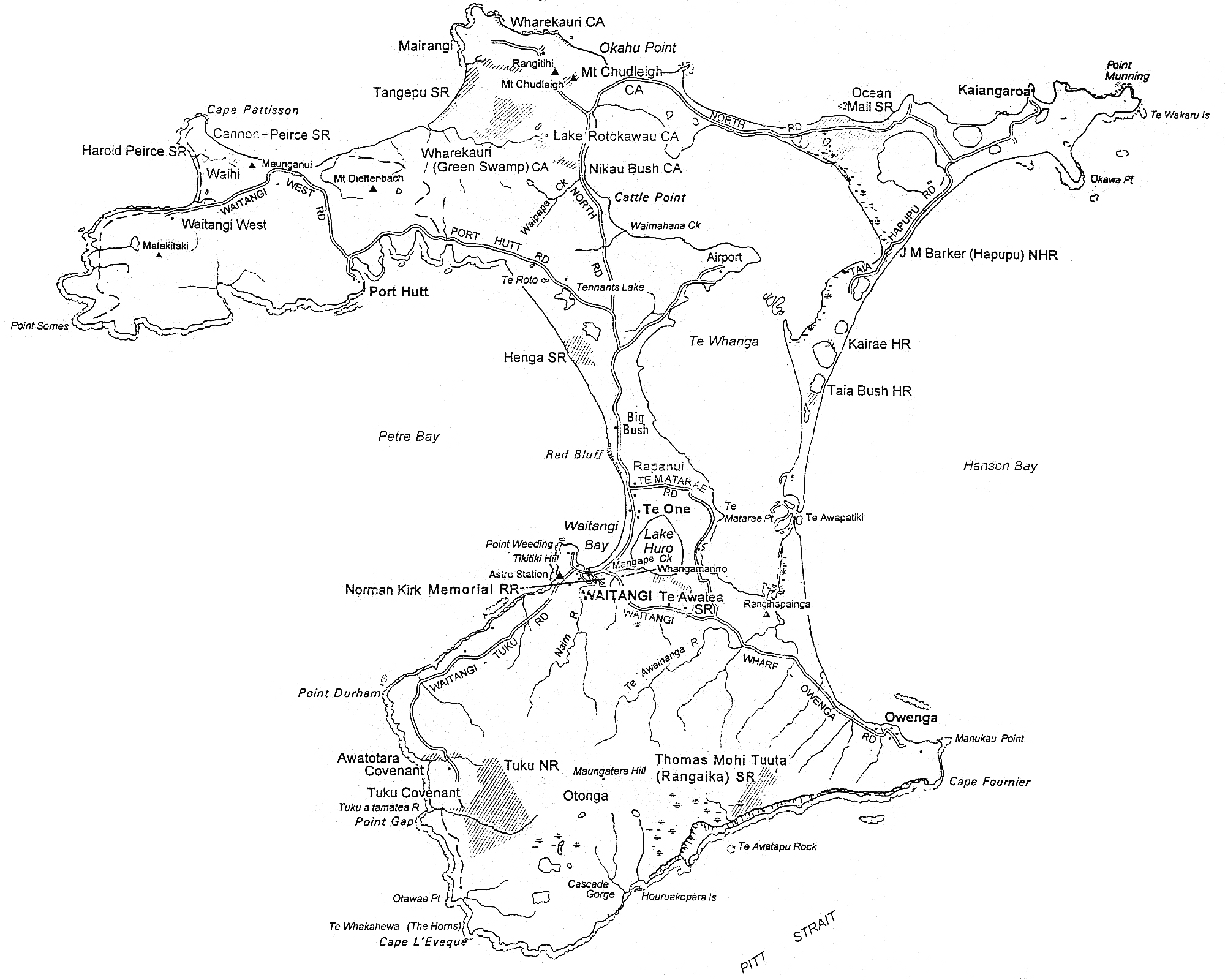 Chatham Island Map