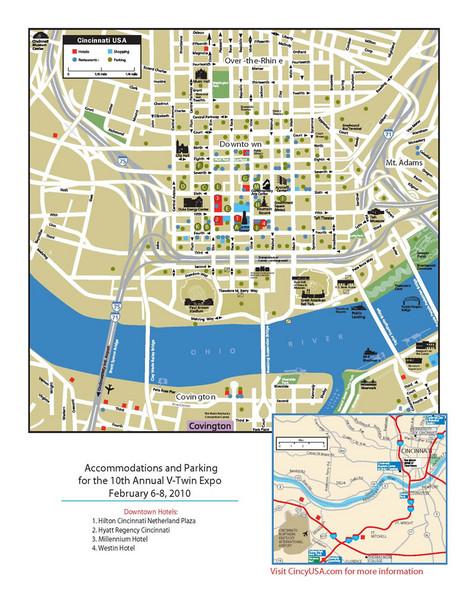 Map Downtown Newport Ky