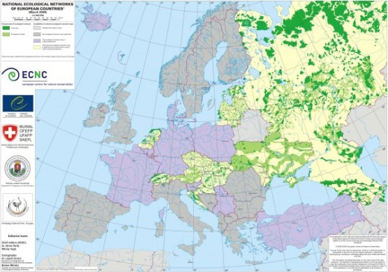 National Ecological Networks of European Countries Map   DAuml         Fullsize National Ecological Networks of European Countries Map