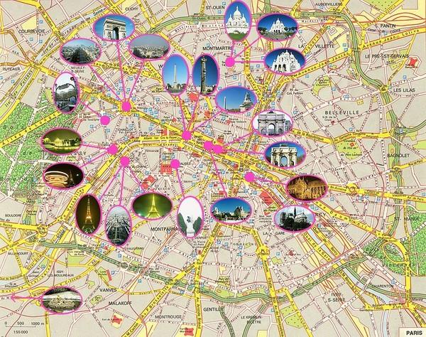Top 10 Paris Attractions Map