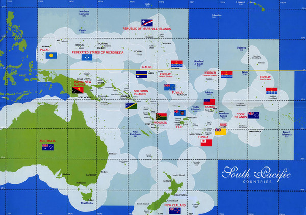 South Pacific Countries Map   Thikombia Fiji     mappery Fullsize South Pacific Countries Map